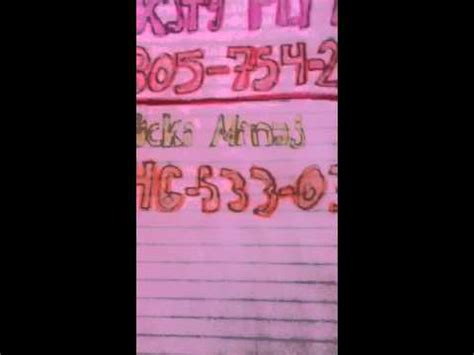katy perrys phone number nicki minja s and katy perry s real phone numbers