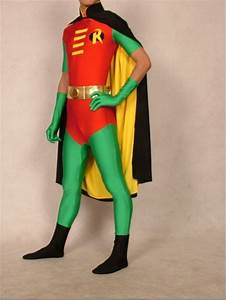 Hot, Buy, Lycra, Zentai, Superhero, Outfit, Costume, Red, Robin, With, Cape, Suit, Size, S, Xxl
