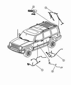 2006 Jeep Commander Wiring  Liftgate  Base  Back  Camera