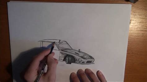 drawing  drift car nissan sx youtube
