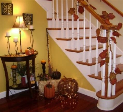 Decorating Ideas For Living Room With Stairs by 35 Cozy Fall Staircase D 233 Cor Ideas Digsdigs