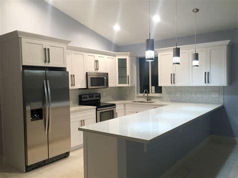 key largo kitchen  white shaker cabinets