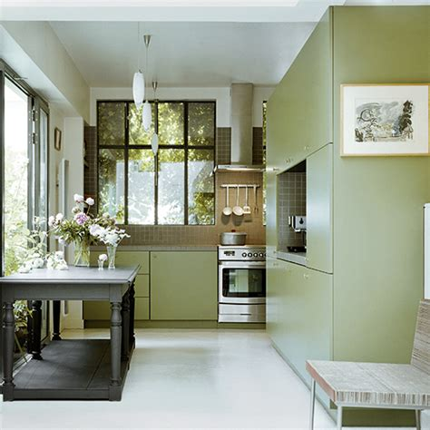 kitchen color schemes with wood cabinets green kitchen colour ideas home trends ideal home