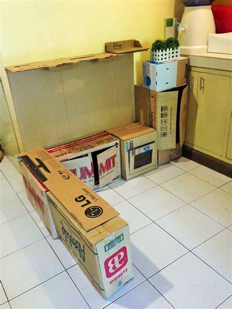 c 243 mo crear una peque 241 a cocina de cart 243 n para tus hijos