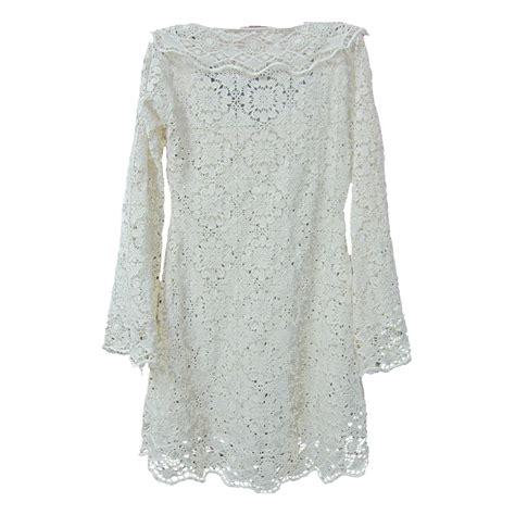 lace blouse white crochet lace pattern sleeve blouse buy