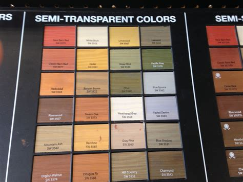 sherwin williams semi transparent stains for deck fence