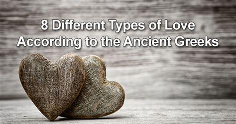 types  love    ancient greeks