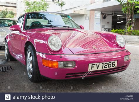 pink porsche convertible porsche 911 turbo cabriolet stock photos porsche 911
