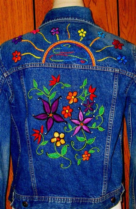 embroidery   jeans simple craft ideas