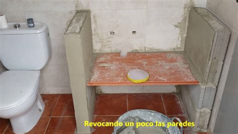 construccion lavabo rustico youtube