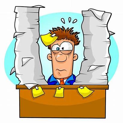 Clip Clipart Paperwork Office Worker Tired Forms