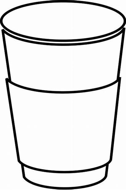 Cup Coffee Outline Clipart Mug Template Templates