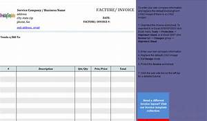 Basic service invoice template in french for French invoice template