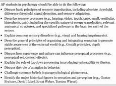 AP Psychology with Mr Duez 31SENSN & PRCPTN