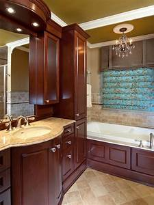 Dark, Wood, Cabinetry, Adds, Elegance, To, A, Traditional