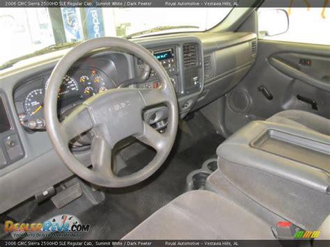 dark pewter interior  gmc sierra hd sle regular