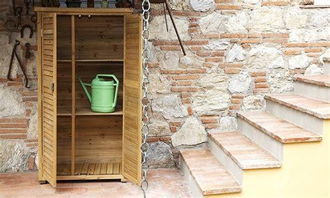 armadio da terrazzo armadio da esterno in legno groupon