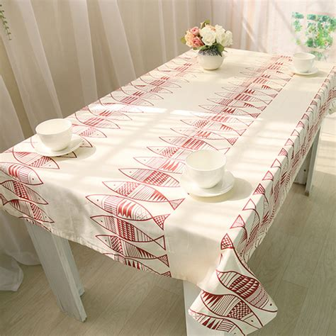 tablecloth for oval table tablecloths white table cloth cotton covers simple fish