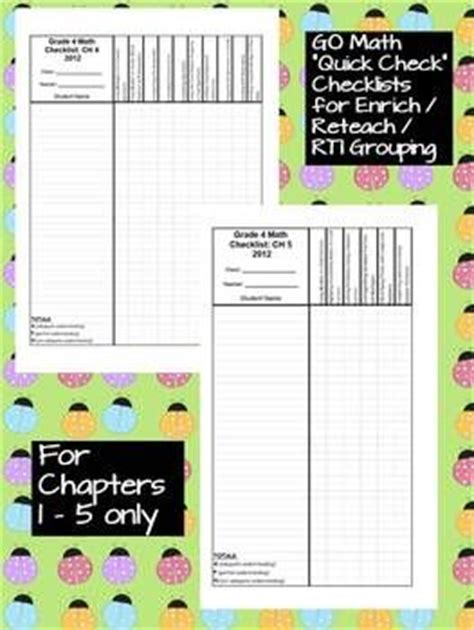 Math, Assessment And Go Math On Pinterest