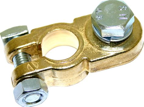 Negative Brass Bolt Clamp Battery