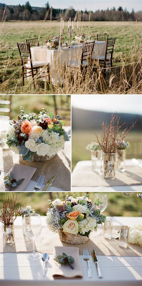 pretty peach  gray wedding ideas
