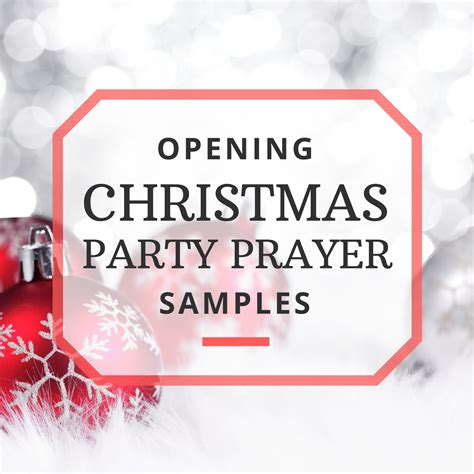 sle opening prayers for your christmas party