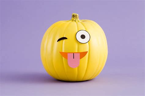 diy emoji pumpkins    printables brit