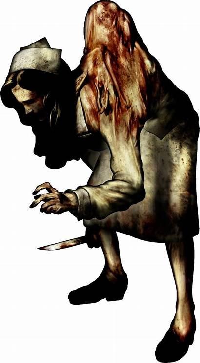 Silent Nurse Hill Puppet Games Monsters Transparent