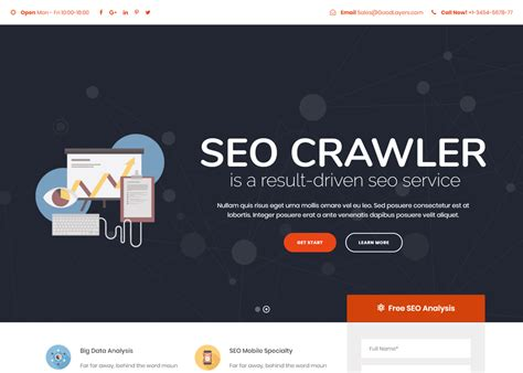 Top Seo Websites by Seo Crawler Theme Awwwards Nominee