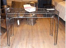industrial vintage metal wire furniture