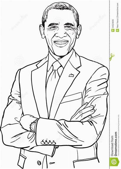 Coloring African Pages American Printable Obama Barack