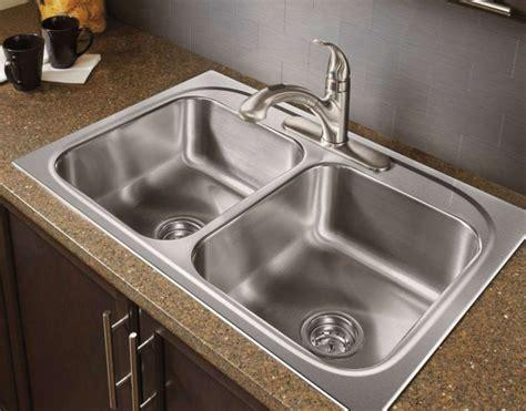 overmount kitchen sink on granite stainless steel kitchen sinks guide the kitchen
