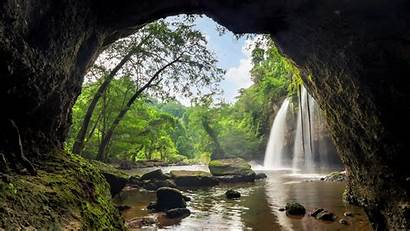 Cave Wallpapers Waterfall Park National 4k Nature