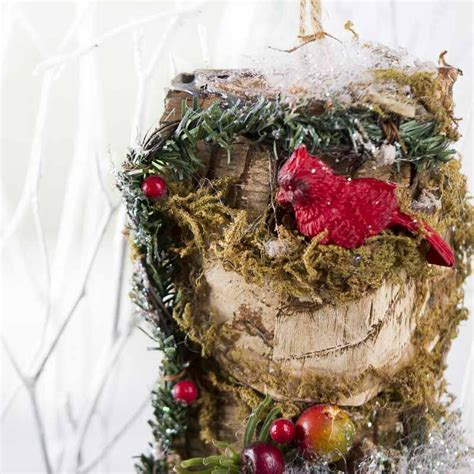 sparkling woodland christmas ornament christmas