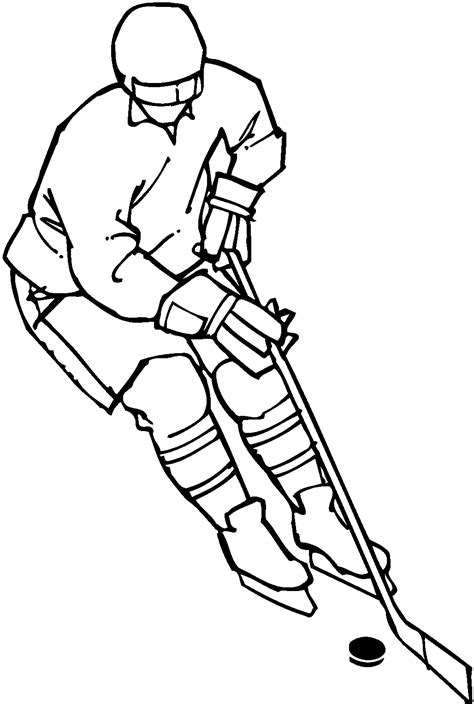 mann spielt eishockey ausmalbild malvorlage comics