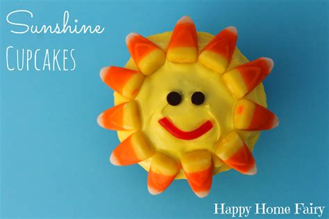 Sunshine Cupcakes  Happy Home Fairy