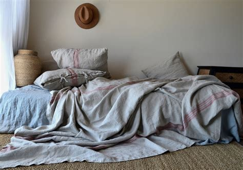 Linen Bedcovers by Vintage Grainsack Heavy Linen Coverlet Bed Cover