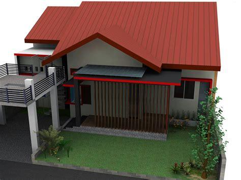 desain rumah minimalis terpopuler datar tampak atas