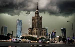 city, Cityscape, Clouds, Lightning, Building, Architecture