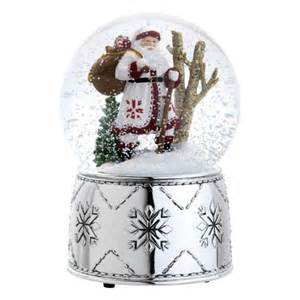 reed barton 5345 nordic santa snow globe 6 75 inch plays we w
