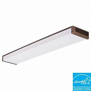 Lithonia Lighting Riser 2 Light Black Bronze Fluorescent