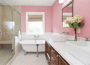Baignoire A Poser : peinture salle de bain 80 photos qui vont vous faire craquer ~ Edinachiropracticcenter.com Idées de Décoration