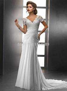 short wedding dress sale cheap v neck cap sleeves bodice With v neck wedding dress with sleeves