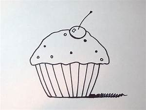 How To Draw A Cartoon Cupcake (Simple and Easy) - YouTube