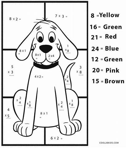 Math Coloring Pages Multiplication Printable Cool2bkids