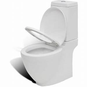 Cuvette Wc Bois : vidaxl cuvette wc carr blanche en c ramique design sp cial ~ Premium-room.com Idées de Décoration