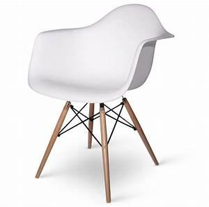 Fauteuil Design Blanc : fauteuil charles eames daw blanc discount design ~ Teatrodelosmanantiales.com Idées de Décoration