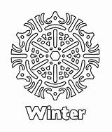 Snowflake Coloring Winter Pages Snowflakes Printable Preschoolers Simple Rocks sketch template