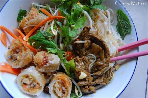 le labo cuisine bo bun salade vietnamienne de crudités vermicelles de