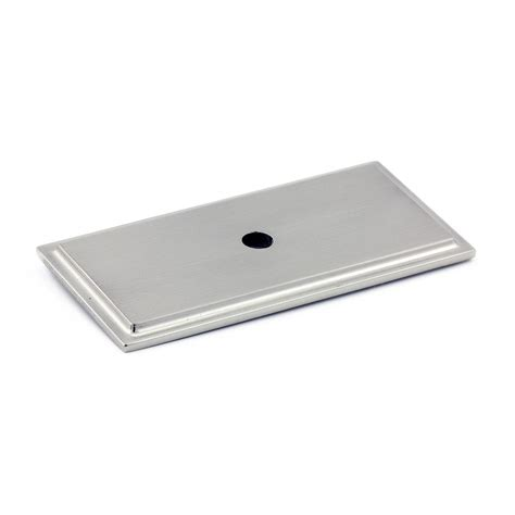 Cabinet Hardware Backplates Home Depot by Richelieu Contemporary Metal Back Plate Brushed Nickel